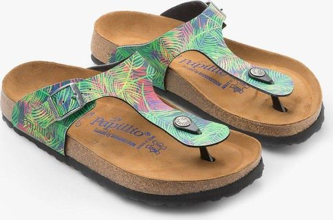Birkenstock Women's Gizeh Tropical Leaf Birko-Flor Sandals