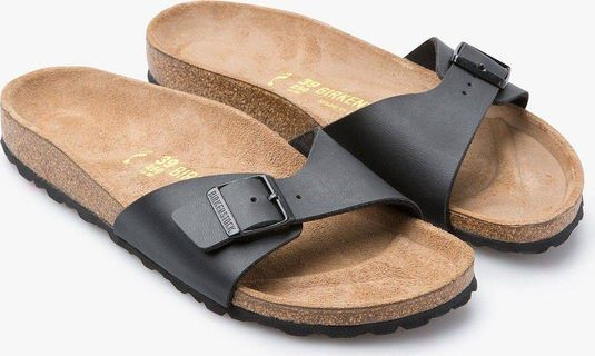 Birkenstock Women's Madrid Black Birko-Flor Sandals