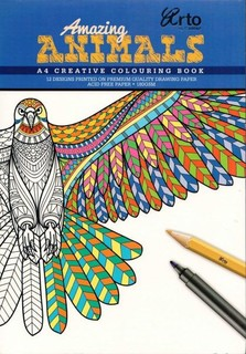 COLORING BOOK FOR ADULTS AMAZING ANIMALS Price In Qatar QAR