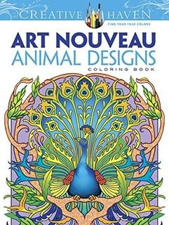 Dover Creative Haven Art Nouveau Animal Designs Coloring Book Adult Price In Qatar QAR 2017 11 November Valid Doha Fereej Abdel Aziz