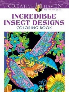 Dover Creative Haven Incredible Insect Designs Coloring Book Adult Price In Qatar QAR 2017 25 June Valid Doha Fereej Abdel Aziz